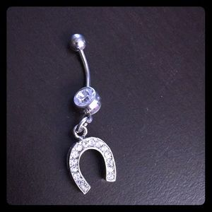 Jewelry - Lucky Horseshoe Dangle Belly Button Ring